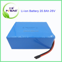 China supplier 26v 20ah 18650 lithium ion helicopter battery