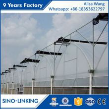 SINOLINKING high quality tunnel film with plastic cover greenhouse for seeding