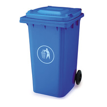outdoor hospital plastic garbage bin trash can 120 liter