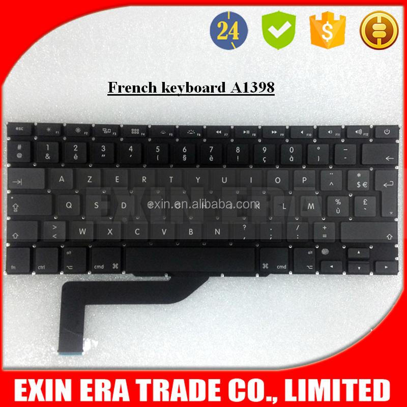 "Azerty Keyboard For Apple Macbook Pro Retina 15"" A1398 ME293 ME294 Keyboard French Layout Keyboard"