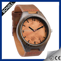 2016 Natural eco-friendly simple design custom logo cheap wooden wrist watch