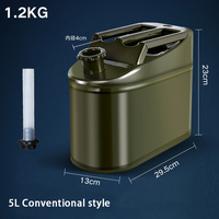 Metal Military portable stainless steel 5L 10L 20L 30L American standard petrol jerry can with case spout