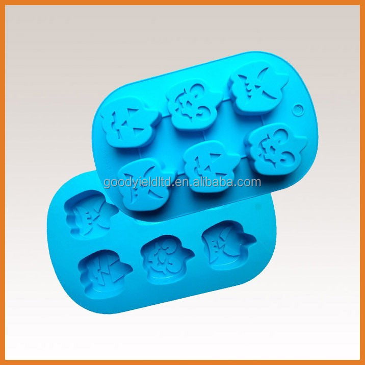6 holes halloween pumpkin design cupcake baking mold