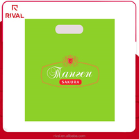 Plastic patch handle shopping bag for clothing