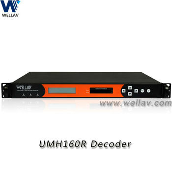 Wellav UMH160R DVB HD IRD with S2 / T / T2 / C Input Redundance