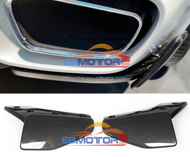 Real Carbon Fiber Rear Lip Splitter Rear Side Valences 1 Pair For BMW F15 X5 M-Sport Bumper 2014UP B362