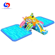 Very interesting submaring kids outdoor amusement commercial giant inflatable water park