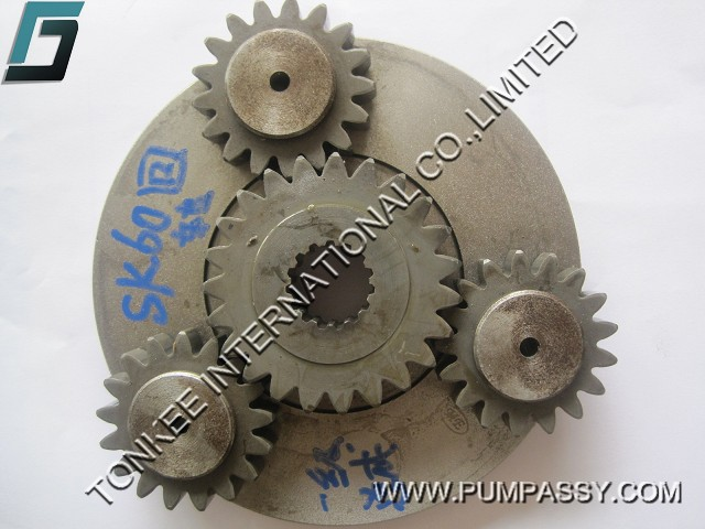 Gear parts KOBELCO SK60 swing planetary gear and carrier assy for excavator swing gearbox