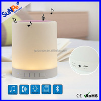 LED baby night light lamp mobile wireless touch music mini portable bluetooth speaker