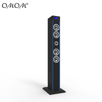 OHM-1608L 180w sound Tower Speaker With Blue LED Lights,Docking Station And Bluetooth, FM Radio & Remote