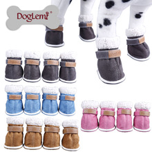 Wholesale winter snow boots casual dog shoes pet slip-resistant waterproof shoes teddy dog shoes