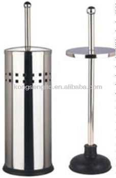 stainless steel toilet plunger with holder buy stainless steel toilet plunger with holder best. Black Bedroom Furniture Sets. Home Design Ideas