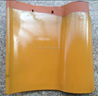 Golden color spanish clay roof tile