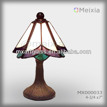 MX000033 wholesale stained glass table lamp shade modern tiffany lamp for home decoration items