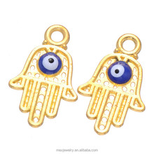 Wholesale Turkey Gold TONE Evil Eye Large Hamsa Hand Charms Cheap Price
