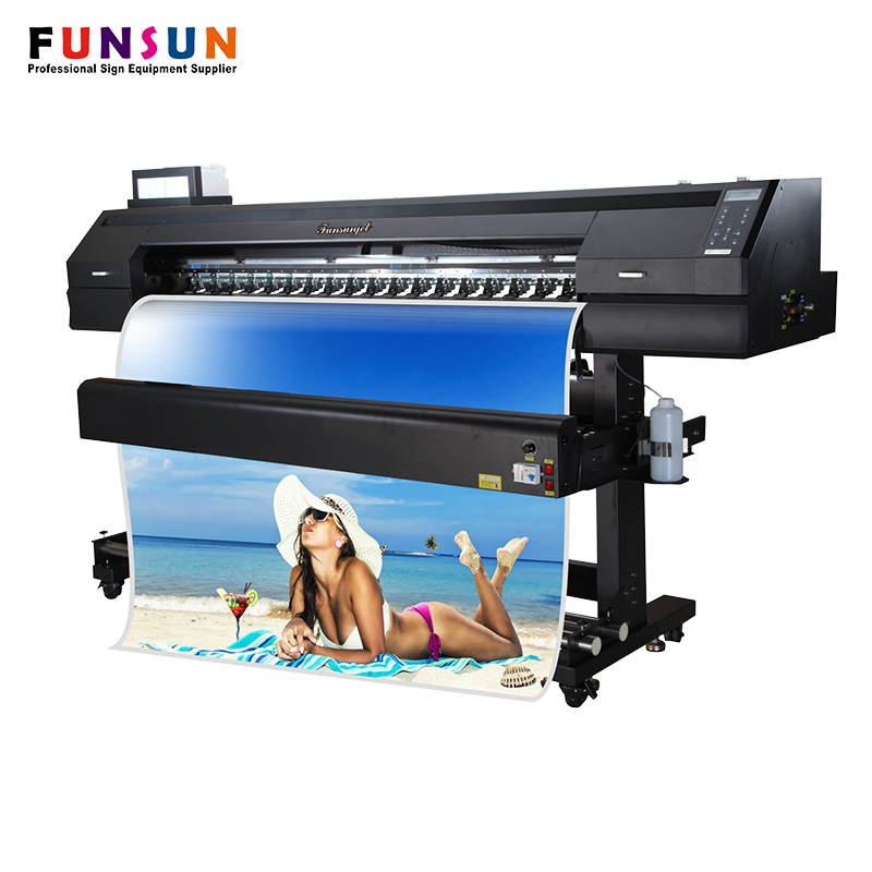 High Grade 1.7m DX5 Head 1440dpi Eco Solvent Printer Cutter
