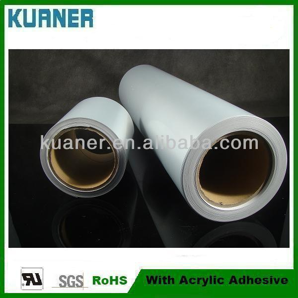Self adhesive silver pet mirror film for printing