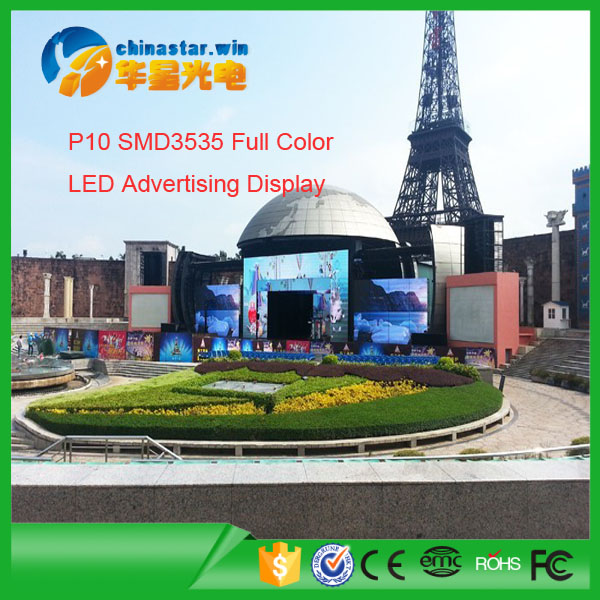 outdoor advertsing led display p10/led video wall p8 p6 screen panel price for sale