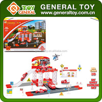 31.5*5.4*23.5cm Fire Truck Parking Lot Set Toy Railway Toy
