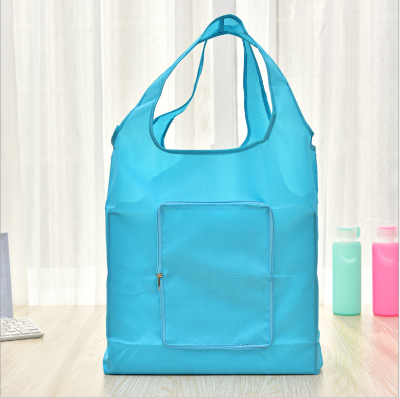 Cheap wholesale gsm customized reusable glossy laminated shopping polyester folding tote bag