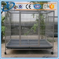 ISO9001 simple dog cages , steel dog cage in china