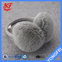 Latest Arrival good quality women rabbit fur ear muffs for winter with many colors