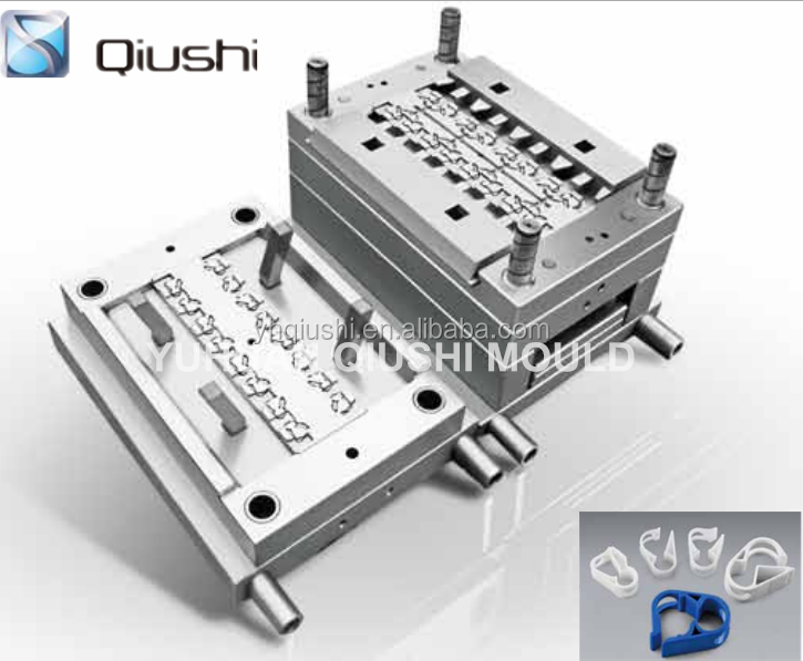 cold runner plastic injection mold/mould maker for maxi pinch clamp & robert clamp (qsm-0011)