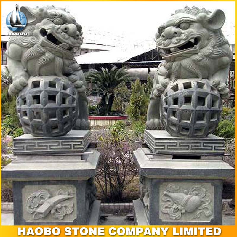 Stone Lion Garden Sculptures