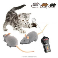 Novelty Funny Remote Control Wireless RC Rat For Cat Pet Toy