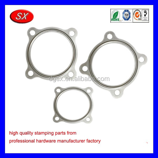 OEM stainless steel spiral wound gasket,4 bolts gasket for automotive series