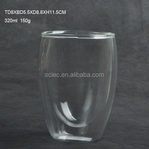 popular originality double wall glass cup,wine cup,coffee cup