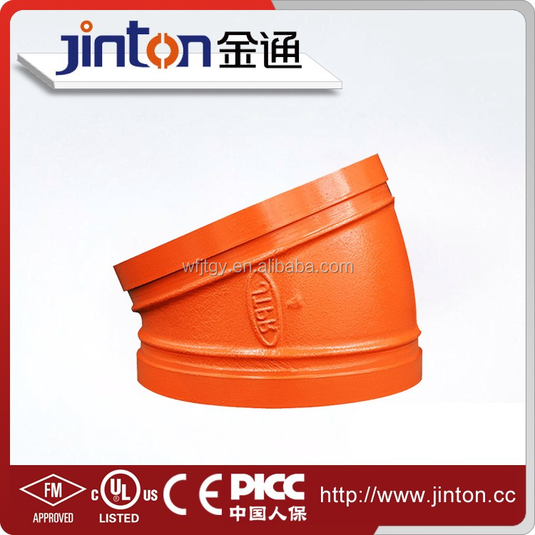 FM UL certificated factory provided 11.25 Pipe Fitting Elbow