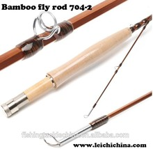 High quality 7ft 4wt 2 pc chinese bamboo fly fishing rod