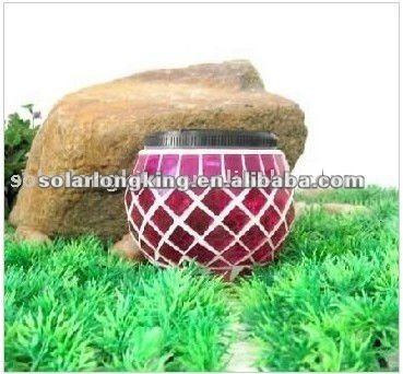 Glass Mosaic Solar Jar Light LK50208