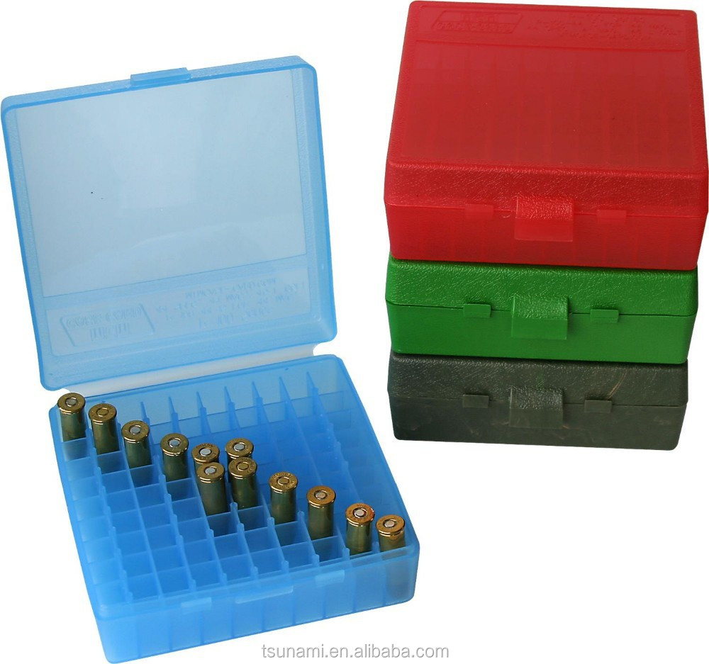 100 round ammo can plastic ammunition box for ammo reloading equipment (TB-906)