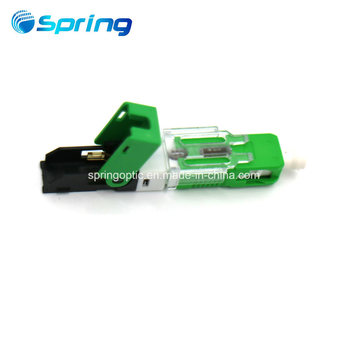 FTTH SC APC fiber optical rapid fast assembly connector for drop cable