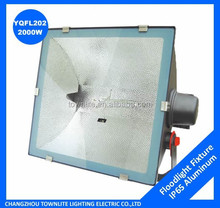 IP65 metal halide floodlight fixture 2000w, flood light fitting 2000 watt