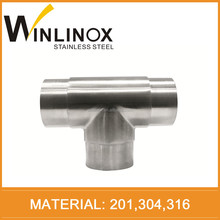 ss201 304 316 stair railing handrail pipe connector 180 degree elbow