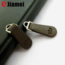 Colored Genuine or pu leather zipper puller