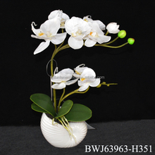 2015 best quality artificial orchid bonsai, wedding decorative orchid for sale