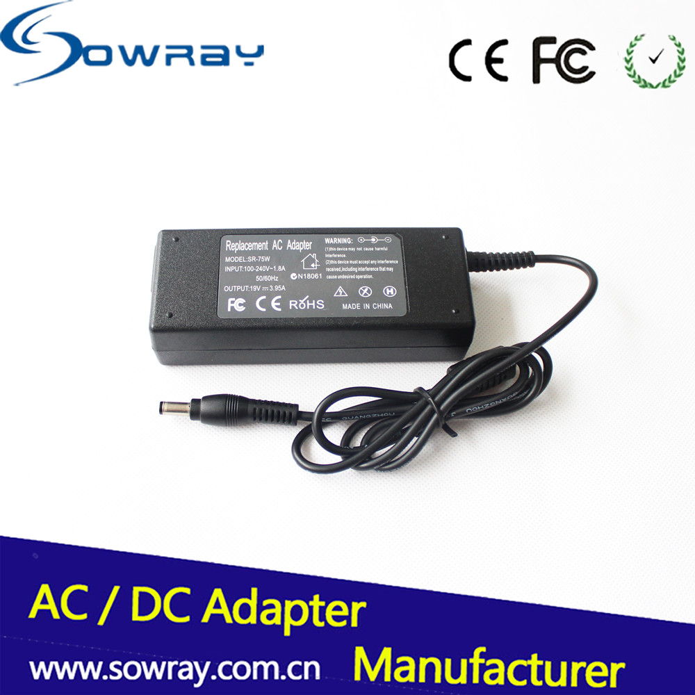 computer parts pc power supply 75W DC/ac adapter for Toshiba 6.3X3.0 19V 3.95A