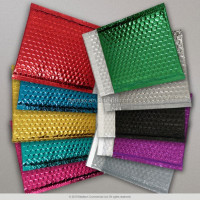 Multi metallic color Shock resistance ,antisatic and biodegradable aluminum foil self adhesive seal poly bubble envelope