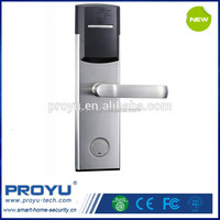 China Factory zinc alloy digital swipe card electronic hotel handle security door lock PY-8011-6