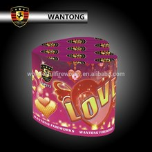 Outdoor love heart shape cake fireworks for wedding