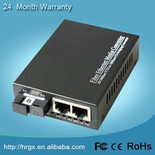 Alibaba gold member 10/100M media converter fiber to rj45 port single fiber SM 20km