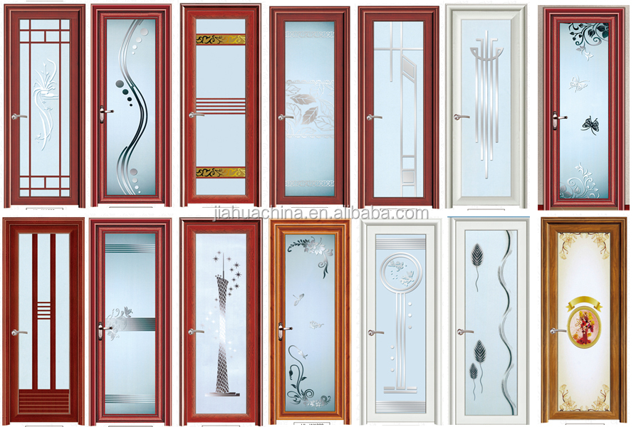 Alibaba New Model Modern Exterior Aluminium Bathroom Doors Luxury
