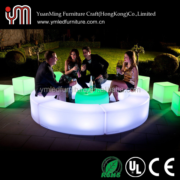 LED furniture portable cocktail bar design for outdoor
