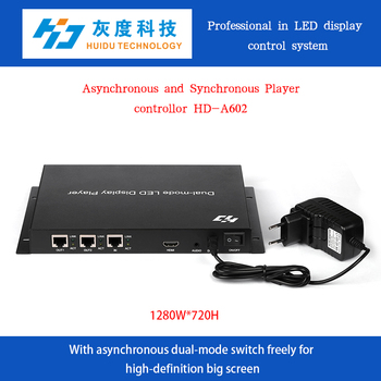 HD-A602 online&offline advertising rgb large display controller LED video wall
