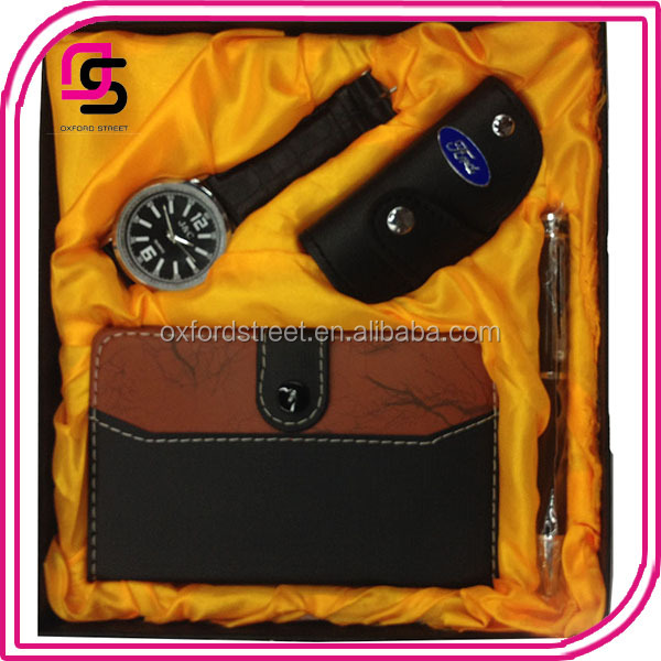 Hot sell men wallet watch belt pen gift set,more styles avaliable