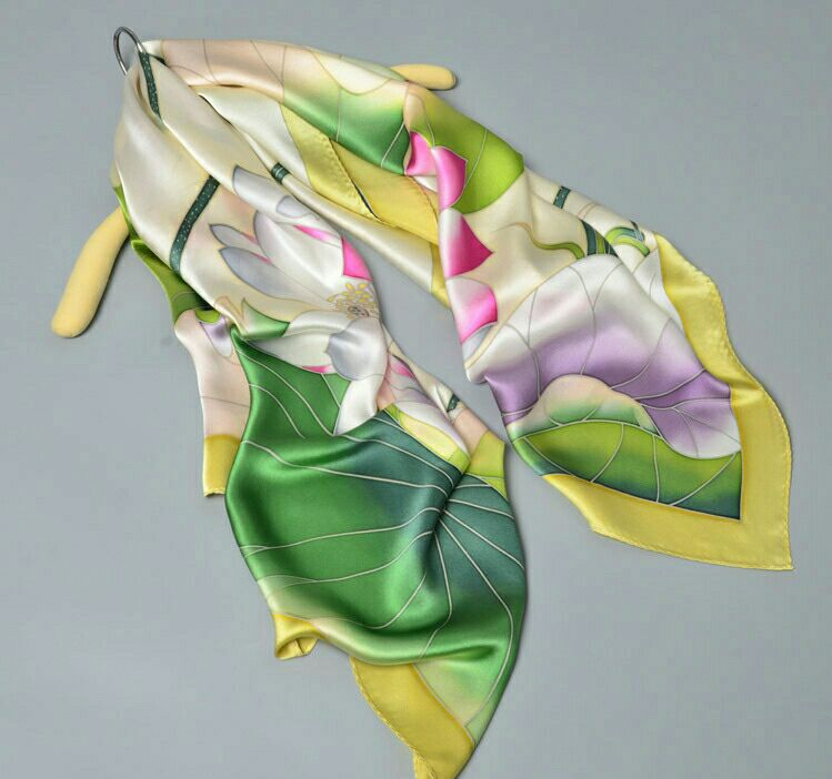KTFL8007 The new design elegant chinese style 100% pure silk <strong>scarf</strong>